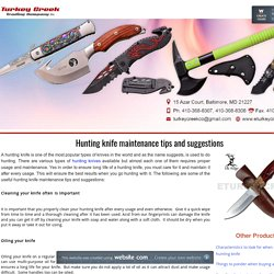 Hunting knife maintenance tips and suggestions - eturkeycreekco
