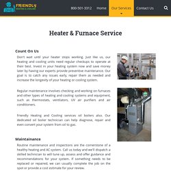 Heater and Furnace Maintenance Service in Essex