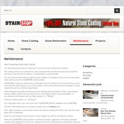 Stone Maintenance & Care Sydney