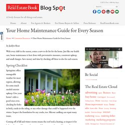 Your Home Maintenance Guide for Every Season
