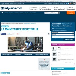 La maintenance industrielle