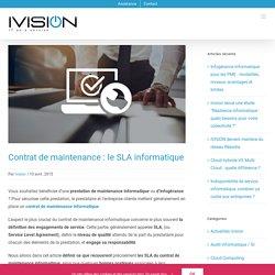 Contrat de maintenance : le SLA informatique - Ivision