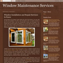 Window Maintenance Services: Window Installation and Repair Services in Essex