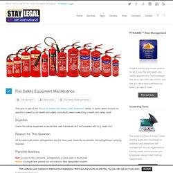Fire Safety Equipment Maintenance - DDS International