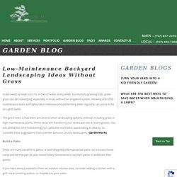 Low-Maintenance Backyard Landscaping Ideas Without Grass