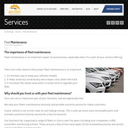 Fleet Maintenance in Cairns