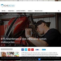 BTS Maintenance des véhicules option motocycles