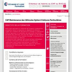 Les formations / CAP Maintenance des Véhicules Option A Voitures Particulières