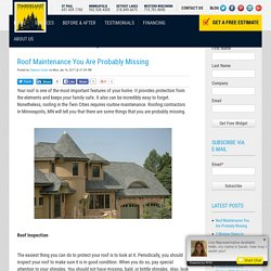 Roof Maintenance You Are Probably Missing