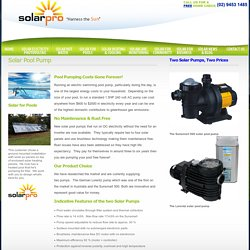 Solar Pool Pump, Rust & Maintenance Free, Remove Costs