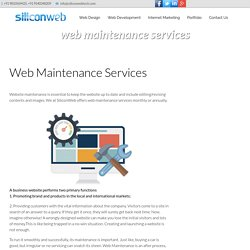 Web Maintenance Services, Website Maintenance
