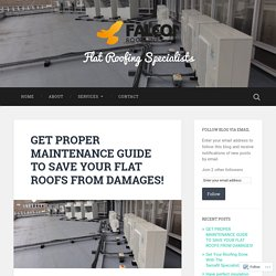 GET PROPER MAINTENANCE GUIDE TO SAVE YOUR FLAT ROOFS FROM DAMAGES! – Flat Roofing Specialists