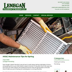 HVAC Maintenance Tips for Spring – Lenegan