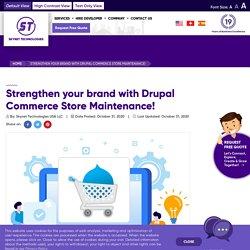 Best ecommerce solutions that offer ideal customer experiences - Drupal Ecommerce Maintenance - Skynet Technologies USA LLC