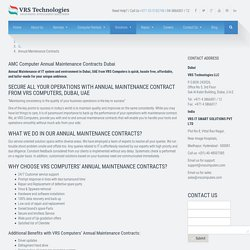 Annual Maintenance Contracts Dubai - IT AMC - AMC Dubai - vrscomputers.com