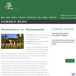 Maintenance vs. Management