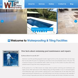 Few facts about swimming pool maintenance and repairs