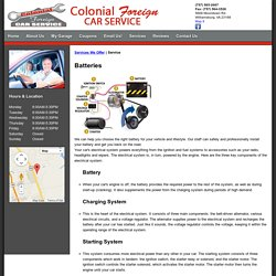 Colonial Foreign Car : Automotive Service and Maintenance in Williamsburg, VA