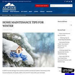 Home maintenance tips for winter