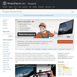 Maintenance — WordPress Plugins