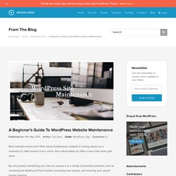 A Beginner's Guide To WordPress Website Maintenance