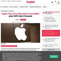 Apple Pay est maintenant accessible pour 90% des Français
