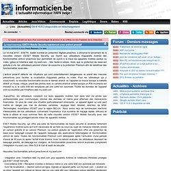 Le tout nouveau ESET® Mobile Security maintenant avec antivol proactif - Press Releases