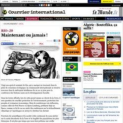 RIO+20 • Maintenant ou jamais!