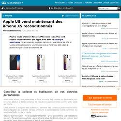 Apple US vend maintenant des iPhoneXS reconditionnés
