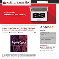 Devoxx 2016 : Retour sur «D'Angular 1 à Angular 2 : Préparez vous dès maintenant à la migration»