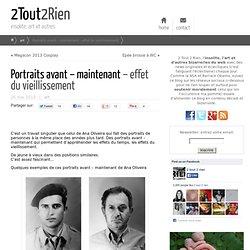 Portraits avant et maintenant - vieillissement
