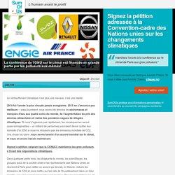 COP21 à Paris: maintenez les gros pollueurs à l'écart!