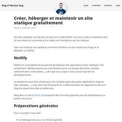 Créer, héberger et maintenir un site statique gratuitement