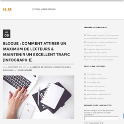 Blogue : Comment attirer un maximum de lecteurs & maintenir un excellent trafic [INFOGRAPHIE]