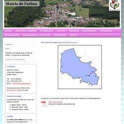 Mairie Farbus - Situation de Farbus dans le Pas de Calais - Le plan de la commune