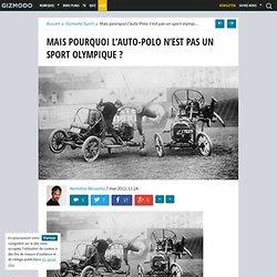 Mais pourquoi l'auto-Polo n'est pas un sport olympique ?
