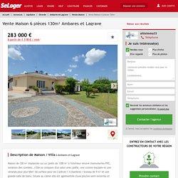 Ambarès-6 pièces 130m² 283000€