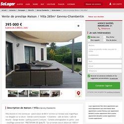 Gevrey-Chambertin 6 pièces 265m² 395000€