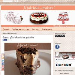 Je fais tout ... maison !: Gâteau glacé chocolat et spéculoos