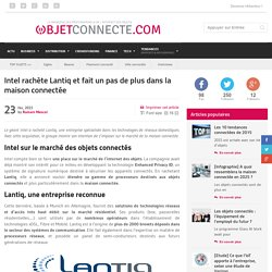 Maison connectée : Intel acquiert Lantiq