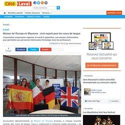 Maison de l'Europeen Mayenne : c'est reparti pour les cours de langue