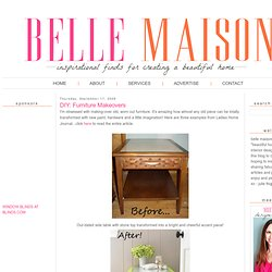 belle maison: DIY: Furniture Makeovers