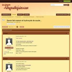 Savon fait maison et hydroxyde de soude... - Page 3 - Faites-le vous même ! - Les Forums d'Onpeutlefaire.com - Page 3