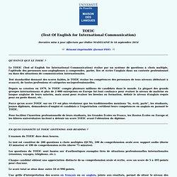 TOEIC (Maison des Langues de l'UPJV - Amiens - France)