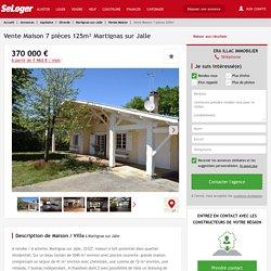 Vente maison 7 pièces Martignas-sur-Jalle - maison F7/T7/7 pièces 125m² 370000€