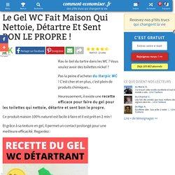 Le Gel WC Fait Maison Qui Nettoie, Détartre Et Sent BON LE PROPRE !