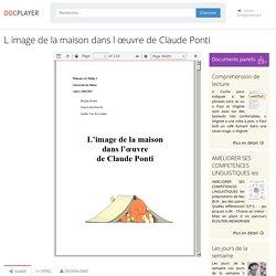 L image de la maison dans l œuvre de Claude Ponti - PDF Free Download
