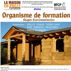 La Maison en Paille - documentation & stages