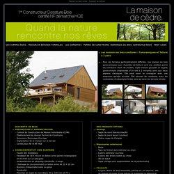 Maison en bois panoramique - 2 pentes de toiture
