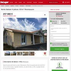 Vente maison 4 pièces Parempuyre - maison F4/T4/4 pièces 101m² 257000€